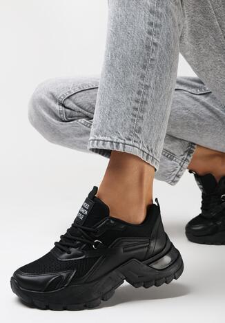 Czarne Sneakersy Iomessa