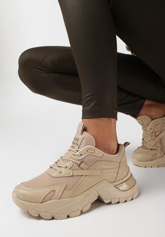 Ciemnobeżowe Sneakersy Iomessa