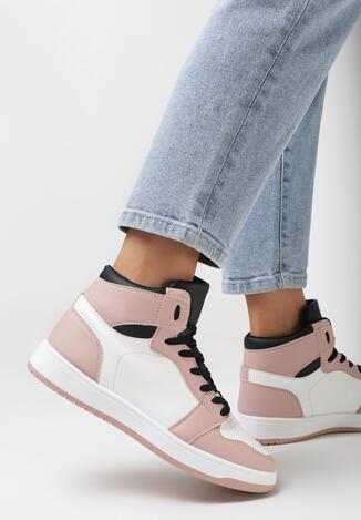 Różowe Sneakersy Larainy