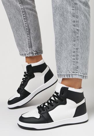 Biało-Czarne Sneakersy Larainy