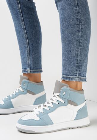 Biało-Niebieskie Sneakersy Larainy