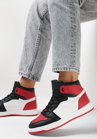 Czerwono-Czarne Sneakersy Larainy