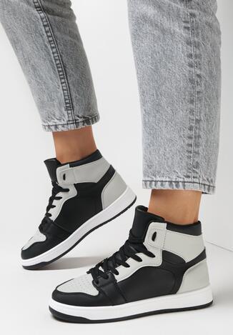 Czarno-Szare Sneakersy Larainy