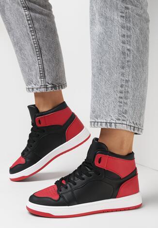 Czarno-Czerwone Sneakersy Larainy