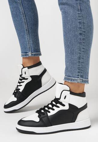 Czarno-Białe Sneakersy Larainy