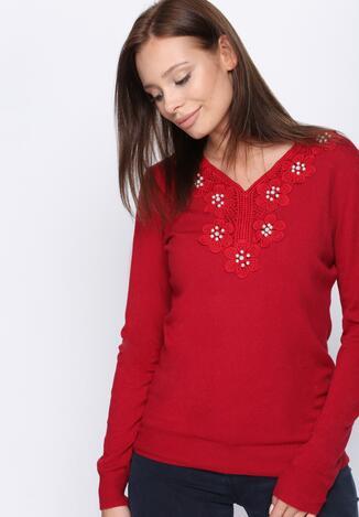 Czerwony Sweter Just Wait