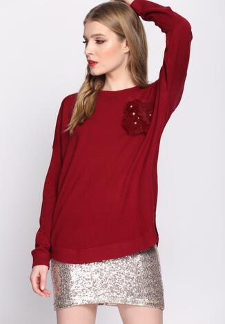 Bordowy Sweter Gentle