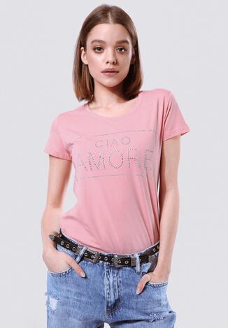 Różowy T-shirt Neat