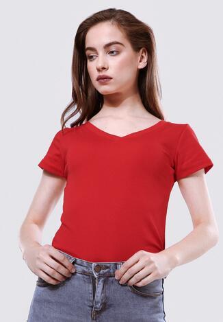 Czerwony T-shirt Featherlike