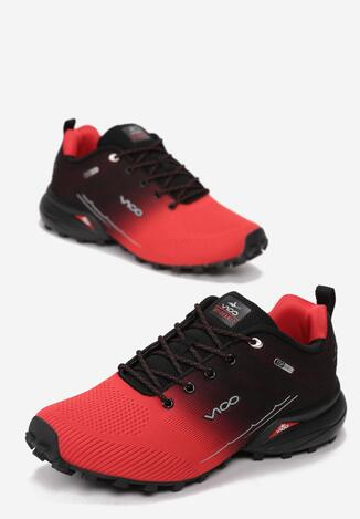 Czerwono Czarne Buty Sportowe Stop Heart