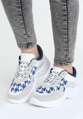 Szaro-Niebieskie Buty Sportowe Pair Sect