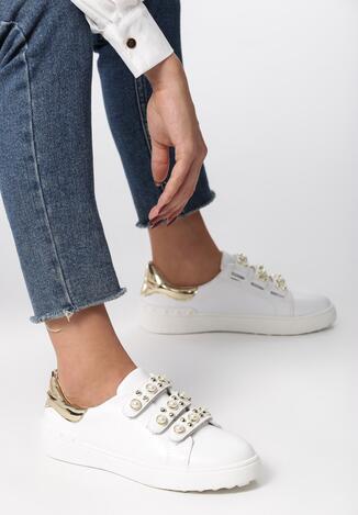 Biało Złote Buty Sportowe No Alibi