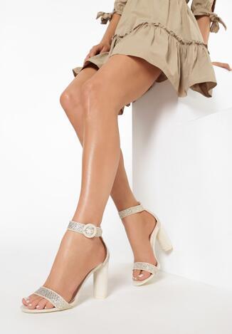 Beżowe Sandały Nice Meeting