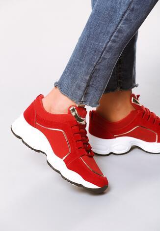 Czerwone Sneakersy Stretch