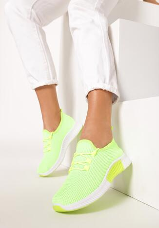 Limonkowe Neonowe Buty Sportowe Nautiney