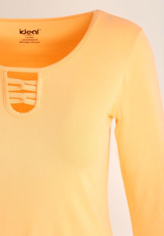 Pomarańczowa Bluzka Sign In
