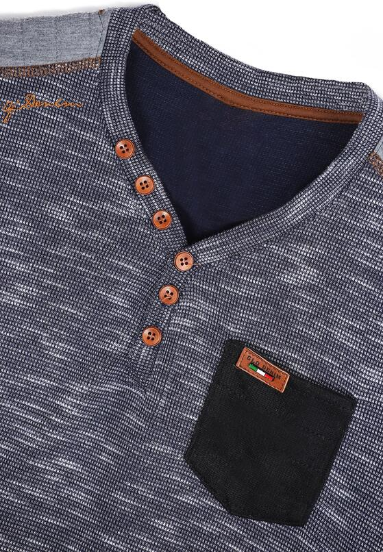 Granatowa Bluza Buttons
