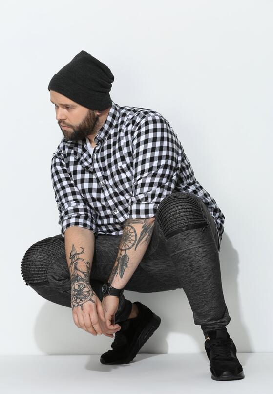 Czarno-Biała Koszula Fittable