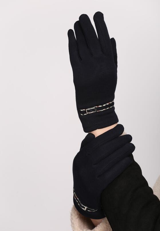 Granatowe Rękawiczki Invisible