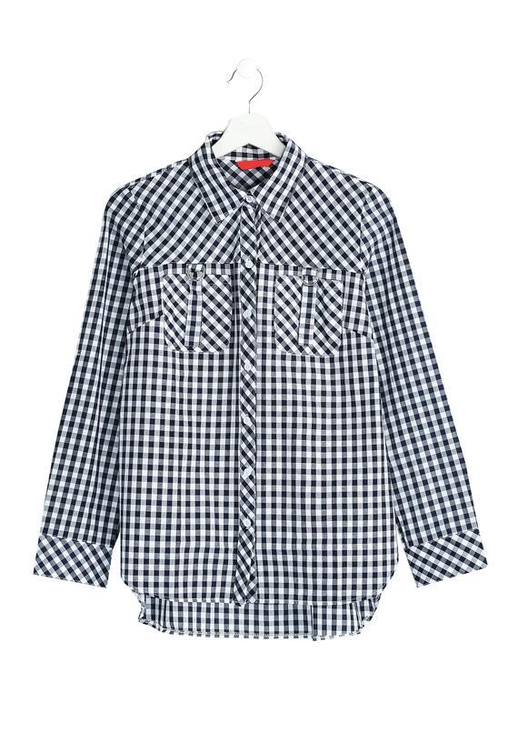 Granatowa Koszula Minor Grid