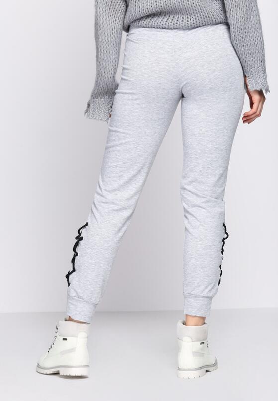 Szare Spodnie Dresowe Interlace