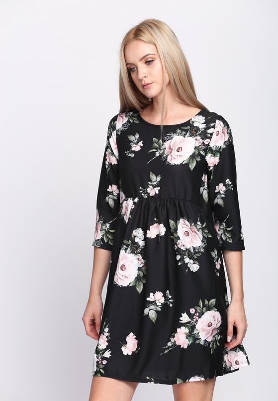 Czarna Sukienka Full Flower