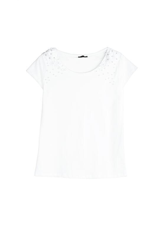 Biały T-shirt Comes Tumbling