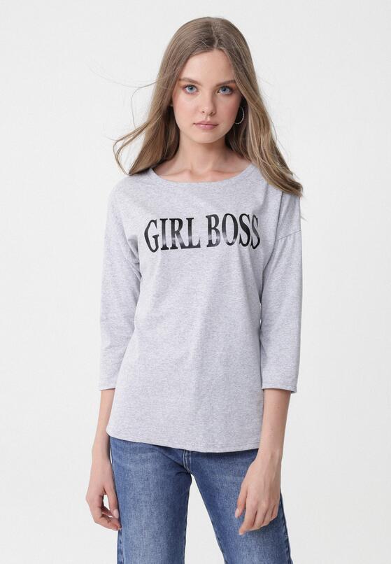 Jasnoszara Bluzka Boss Lady