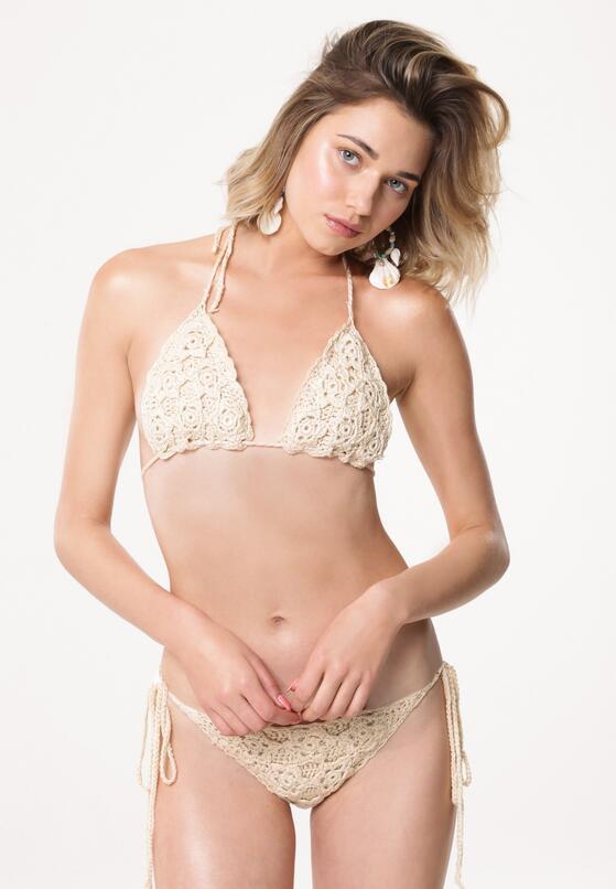 Beżowe Bikini Mean Sun