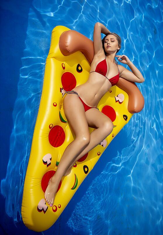 Żółty Materac Pizza Lover