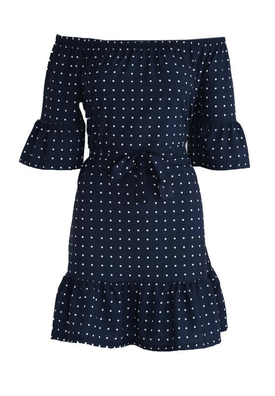 Granatowa Sukienka Nine Months