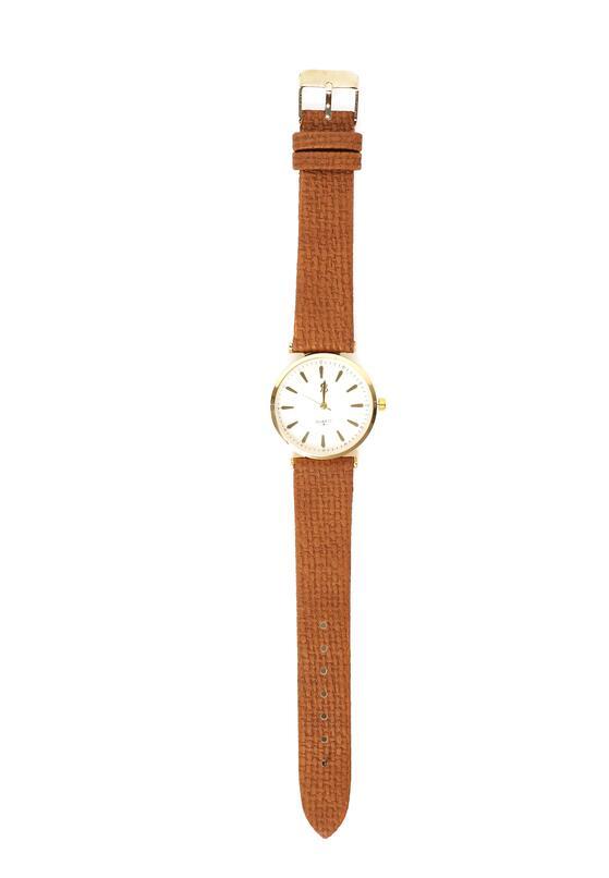 Brązowo-Złoty Zegarek Missing