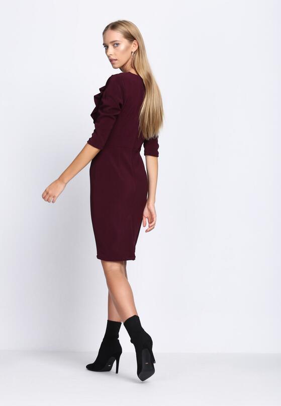 Ciemnofioletowa Sukienka Black Out