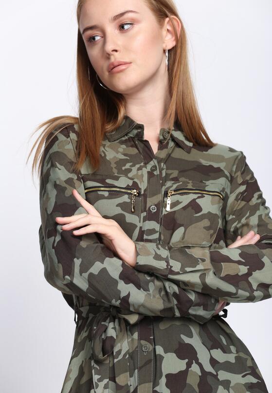 Zielona-Moro Sukienka Be Yourself