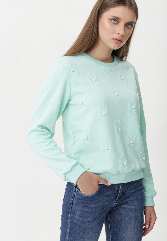 Miętowa Bluza One Pearl