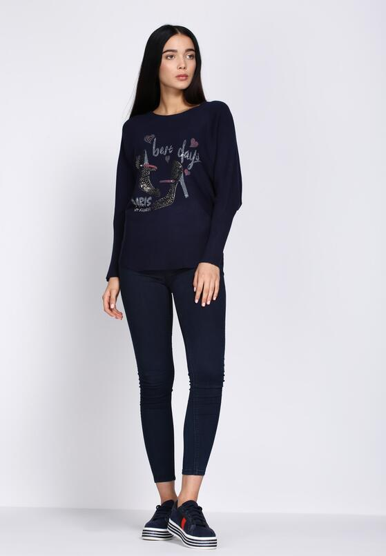 Granatowy Sweter Perfect Day