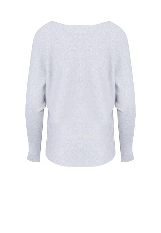 Jasnoszary Sweter Perfect Day