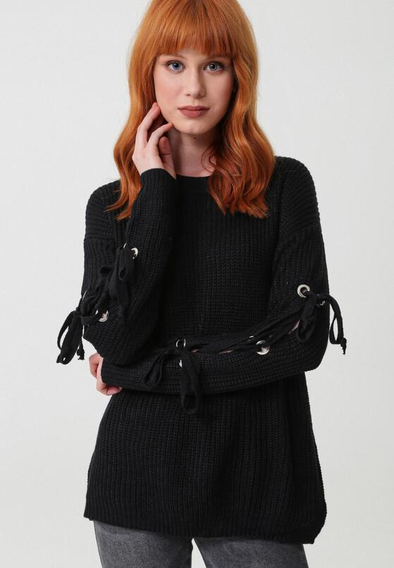Czarny Sweter As A Daisy