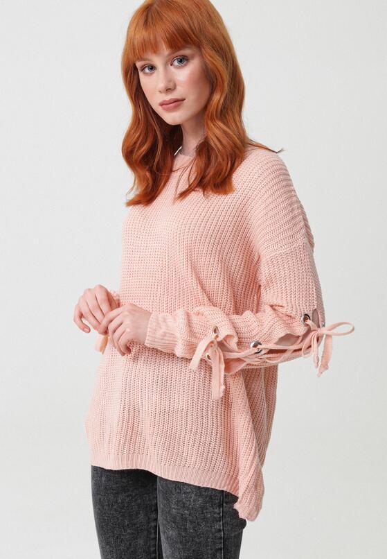 Jasnoróżowy Sweter As A Daisy