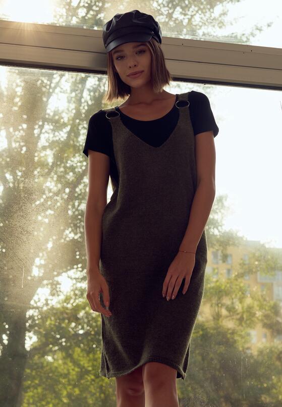 Czarna Sukienka Placidity