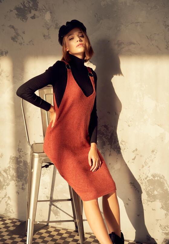 Pomarańczowa Sukienka Placidity