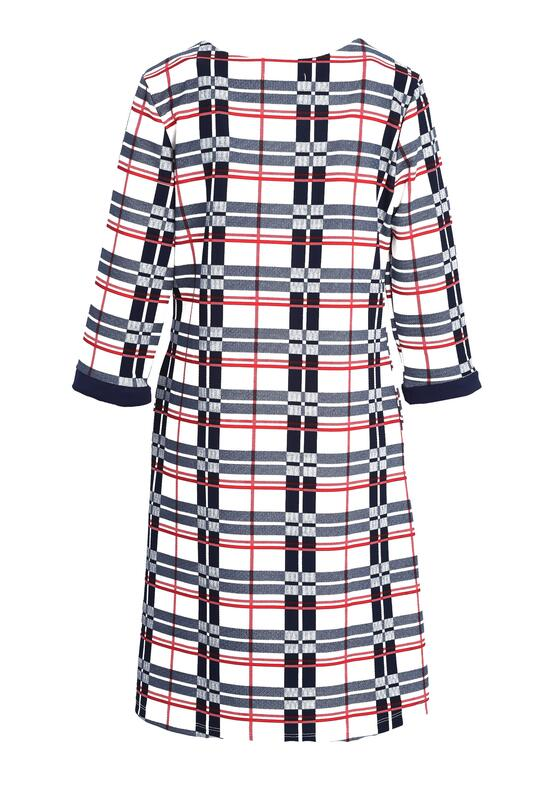 Granatowa Sukienka Symmetry