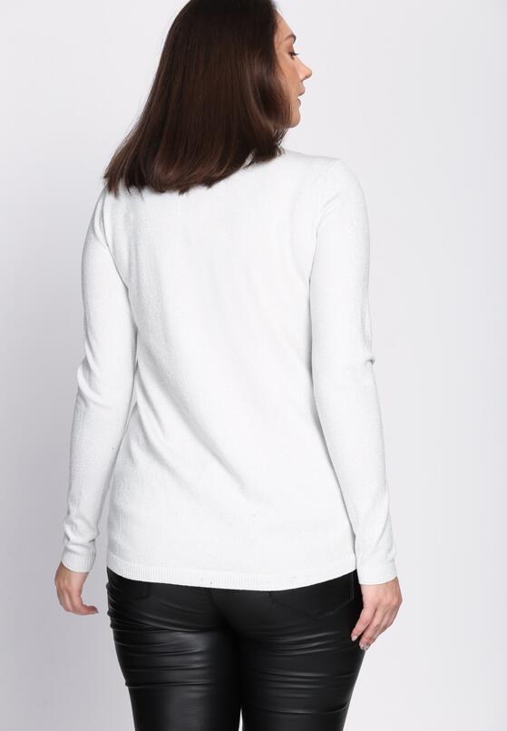 Biały Sweter Fast Drive