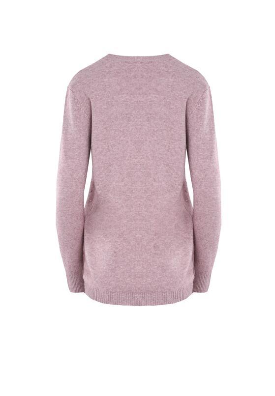 Ciemnoróżowy Sweter Regularity