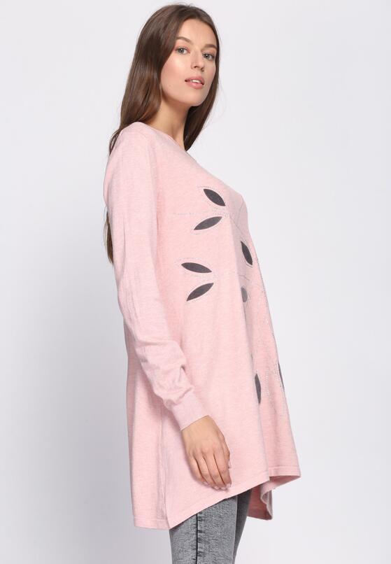 Jasnoróżowy Sweter Fidelity