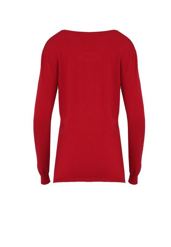 Bordowy Sweter Purpose
