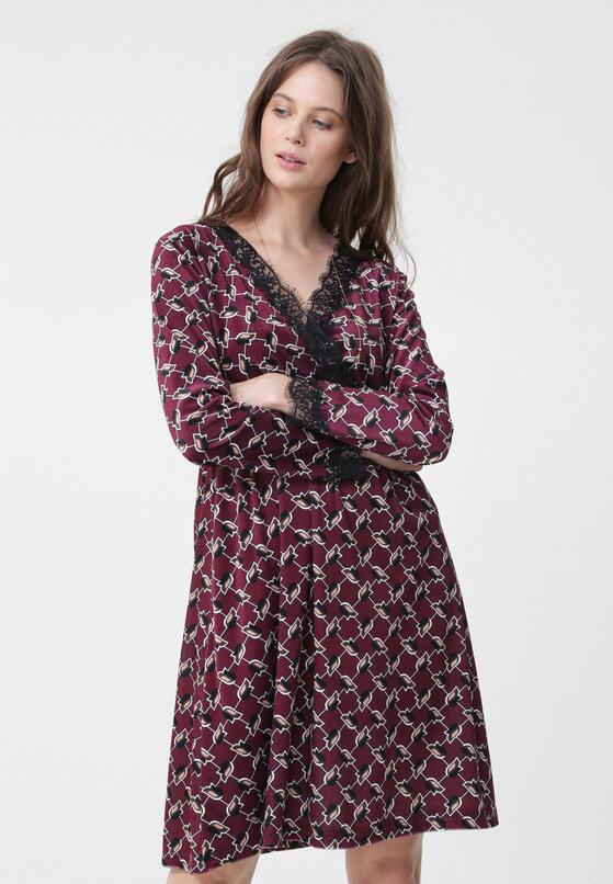 Bordowa Sukienka Unmistakable