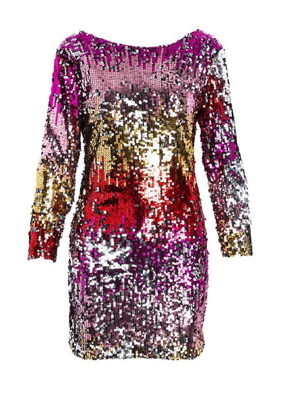 Różowa Sukienka Glossy Finish