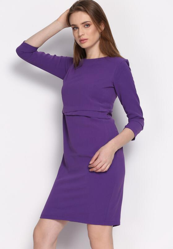 Fioletowa Sukienka Propitious