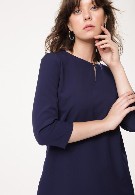 Granatowa Sukienka Percolate
